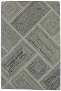 Small Beige 2X3 Abstract Art Deco Modern Hand Tufted Oriental Area Rug Carpet