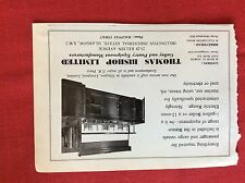 m2j ephemera 1968 advert thomas bishop limited glasgow pantry equipment