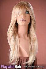 Long Straight Mono Top Wig Marshmallow Blonde