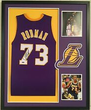 Dennis Rodman Autographed Custom Framed los Angeles Lakers Jersey Tristar Holo