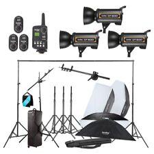 Godox 3X QT600W Studio Flash Light  w/ Stand Softbox Trigger Carrying Case Kit