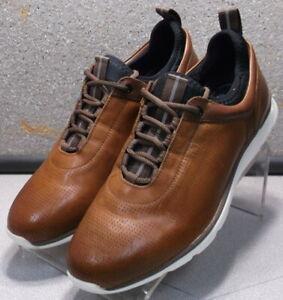 252964 MS50 Men's Shoes Size 10.5 M Dark Tan Leather Lace Up Johnston & Murphy