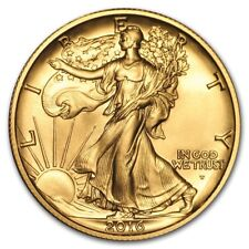 2016-W 1/2 oz Gold Walking Liberty Half Dollar Centennial(w/OGP)