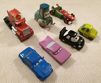 Disney Pixar Cars Bundle of Hard Rubber Toy Cars Lightning McQueen Hudson Guido