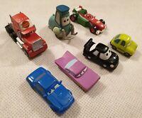 Disney Pixar Cars Bundle of Hard Rubber Toy Cars Lightning McQueen Hudson Guido