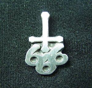 666 CROSS Pewter Pin Badge
