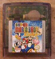 Super Mario Bros. Deluxe Nintendo Game Boy Color Gameboy Cartridge (1999) RARE