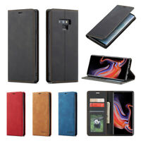 For Samsung Note 9 S8 S9 + Magnetic Leather Case Flip Stand Wallet Card Cover