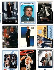9 Different Dean Smith UNC Tarheels Cards FREE Shipping