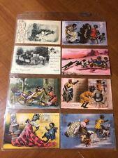 Black Americana Postcard Collection of 8 cards Jocular Jinks of Kornelia Kinks