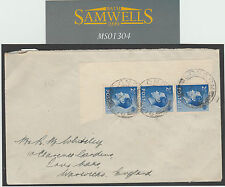 MS1304 1938 GB keviii Strip con la Posta inviata a Isole Pitcairn con NZ AGENZIA