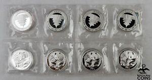 Lot of 8: 2005 China 10 Yuan .999 Silver 1oz Panda Coins ENCAPSULATED & SEALED