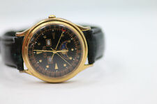 Mens Retro Guess 1993 Moon Phase Triple Date Watch New Batt