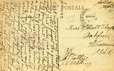 France Verneuil - Avenue de la Gare WWI Soldiers Mail AEF Cover Oakfield WI USA