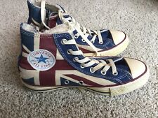 Vintage Converse High Top Men's 5 Women's 7English Britain British Flag