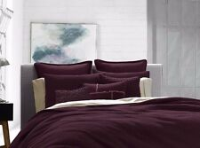 Kenneth Cole Reaction Home Waffle 1 Euro Pillow Sham Cranberry Burgandy