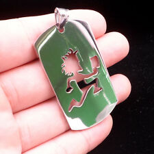 "Hatchetman ICP music charm twiztid stainless steel Dog tag pendant 30"" necklace"