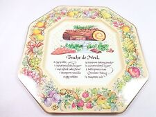 Vintage Avon 1982 Hospitality sweets recipe plate Buche de Noel Made in England