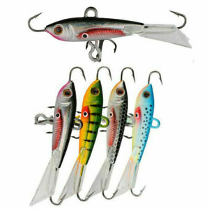 4PCS Ice Winter Fishing Lure Luminous Bait Balancer 6cm 10.5g Shaped Barbed Hook