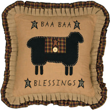 PRIMITIVE/COUNTRY BAA BAA BLESSINGS PILLOW