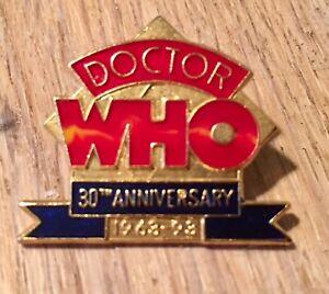 Doctor Who 30th Anniversary 1963-1993 Enamel Pin Badge