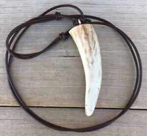 Deer Antler Tip Necklace