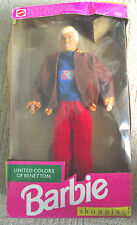 UNITED COLOURS OF BENETTON / KEN DOLL / BARBIE 1990 WITH BOX/ PLEASE READ DESCRI