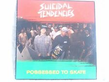 SUICIDAL TENDENCIES POSSESSED TO SKATE EP LP SIGNED AUTOGRAPHED CAROLINE RECORDS