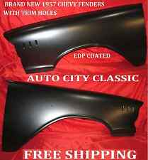 1957 Chevrolet Car Fenders Right and Left with Trim Holes