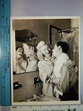 Rare Original VTG 1952 Film Actress Dagmar Gives Her Husband A Close Shave Photo