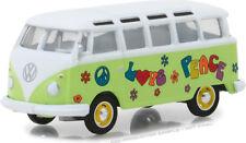 "1964 VOLKSWAGEN TYPE 2 SAMBA BUS ""PEACE & LOVE"" 1/64 MODEL BY GREENLIGHT 29920 C"