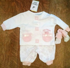 NWT - Newborn Infant Baby Girl Clothes Outfits Set, 4pcs - 100% Cotton - 0-3mths