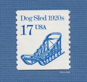 Scott #2135 Dog Sled Coil 17c (Dull Matte Gum) 1986 Mint NH Single