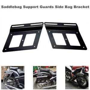 Motorcycle Dirt Pit Bikes Saddlebag Support Guards Side Bag Bracket Mounts Rack