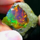 Natural Ethiopian Fire Opal Unheated & Untreated Earth-Mined Certified Rough