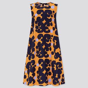 Uniqlo x Marimekko A-Line Sleeveless Dress Orange & Blue XS S M L New With Tags
