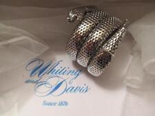 Vintage Whiting & Davis Snake Silver Mesh Bracelet Three (3) Coils NFOS