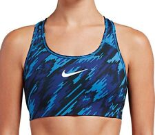 Women S NIKE Pro Swoosh Overdrive CAMO PRINT SPORTS BRA Med Support BLUE or GREY