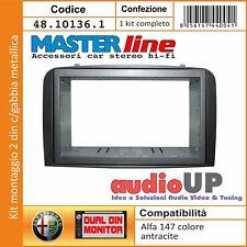MASCHERINA RADIO 2 DIN ALFA ROMEO 147 DAL 2004->2010 ADATTATORE COLORE ANTRACITE