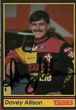 Davey Allison autographed TRAKS NASCAR 1991 card #28