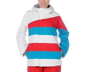 Bonfire Echo Jacket Womens Waterproof Insulate Snowboard Ski Coat White M