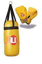 Kids Box-Set Boxing Set f. Kinder NEU Handschuhe 6oz. + Box-Sack in gelb