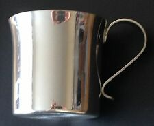 High Polished Pewter Baby Mug With Scroll Handle, Engraved Free, New In Box