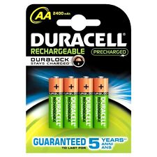 8x NEW DURACELL AA RECHARGEABLE BATTERIES 2400mAh LR6 1.2V NiMH DC1500 MN1500+
