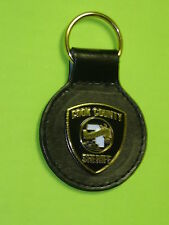 Chicago Police Cook County Sheriff Seal Key Chain w/ Leather Strap