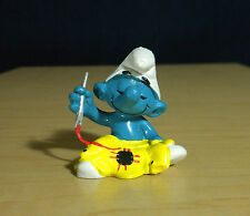 Smurfs Tailor Smurf Sewing Needle Vintage Figure Germany Toy PVC Figurine 20063