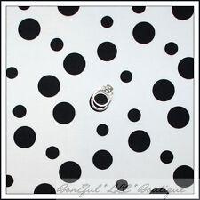 BonEful Fabric Cotton Quilt Black White B&W DOT Dog 101 Dalmatian Print 3D SCRAP