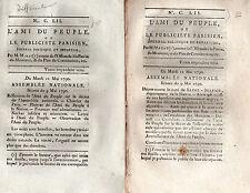 Révolution Marat vrai Ami du Peuple faux Ami du Peuple 1790
