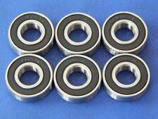 6 unidades 6001 2rs (12x28x8 mm) rodamientos de bolas estrías campamento bala