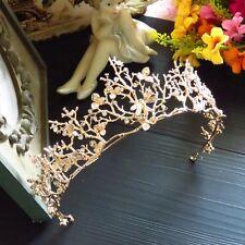 Women's Vintage GOLD CROWN Fascinator Tiara Wedding Hair Accessory Racing Cup